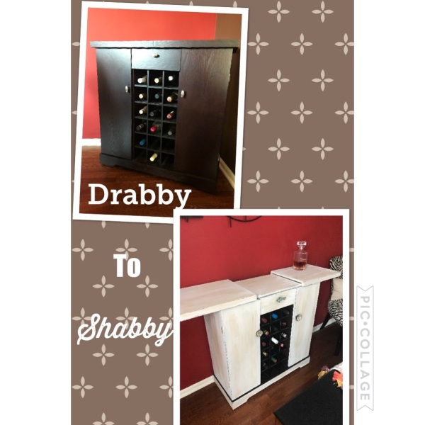 Small bar cabinet refurbished